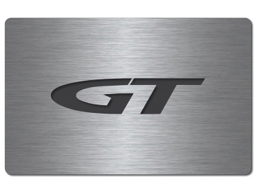 Fuse box cover stainless steel GT logo