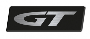 Opel GT logo 60 mm, brushed - 2 pieces