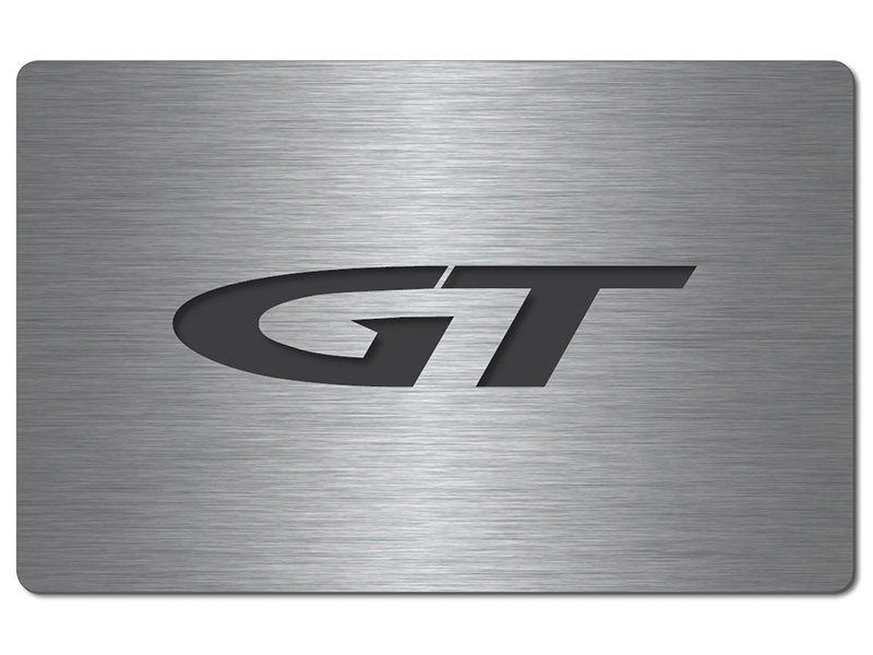Opel GT Cabrio Shop - Fuse box cover stainless steel GT logo Opel Gt Fuse Box on